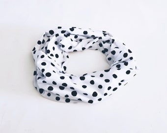 Infinity scarf neck warmer or two towers has polka dot spring summer mothers MOM mother child free shipping canada child adult