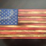 "Small US Flag Challenge Coin Display (9""X18"")"