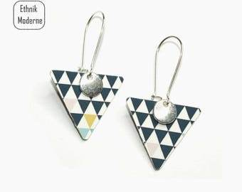 earrings are made of Nordic pattern