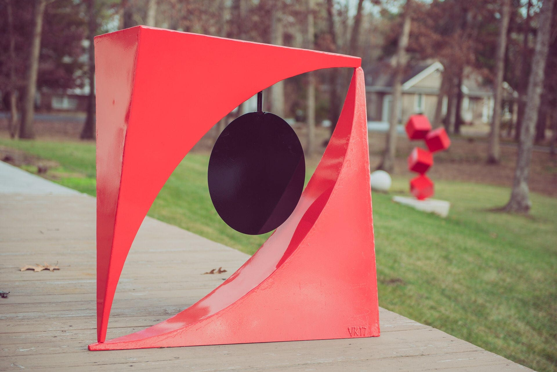 Kinetic Art Sculpture Contemporary Abstract Square Helix