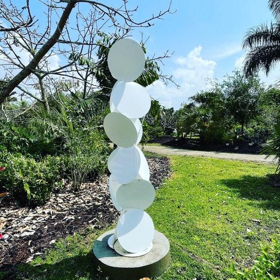 Ottava Tall Abstract Garden Sculpture, Tall Garden Sculptures
