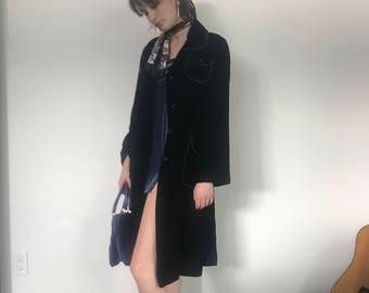 Vintage French Black Velvet Jacket