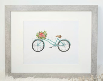 A Trip to the Market (Watercolor Print)