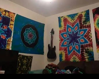Unique Tie- Dye Tapestries