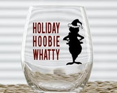 Grinch - Holiday Hoobie Whatty Wine Glass