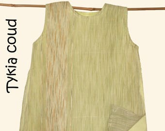 Flight - Trapeze dress lime green - 3 years