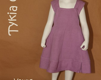 Young - 4-year-old girl's dress in parma cotton