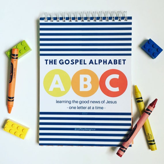 ESV Gospel Alphabet ABC book Chart Children Bible verse | Etsy