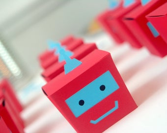 Robot Favors/Robot Party Pack/Robot Party Kit/Robot Party Package/Robot Shower Favor/Sci-Fi Party/Colorful Robot/Bot Party Favors/Robot Kit