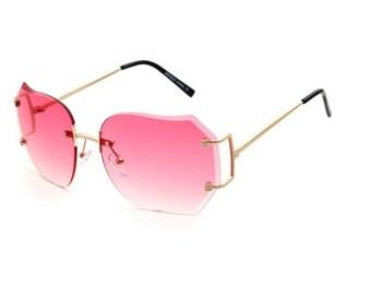 a7a77966d7a1b High Fashion Pink Oversized Women Glasses
