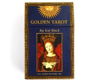 Golden Tarot Card Boxed Set by Kat Black Renaissance Medieval Catholic Art Deck