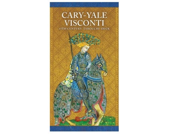 Cary-Yale Visconti 15th Century Tarocchi Tarot Card Deck and Book Renaissance Medieval Art Gilded Gold Antique Reproduction