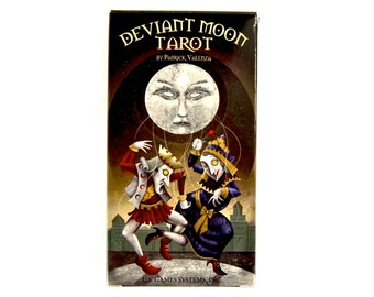 Deviant Moon Tarot Card Deck and Book by Patrick Valenza Gothic Celestial