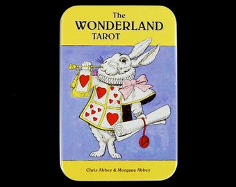The Wonderland Tarot Card Deck and Book in Tin Box by Chris and Morgana Abbey Alice in Wonderland White Rabbit