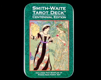 Smith-Waite Centennial Tarot Card Deck and Book in Tin Box Divination Oracle Small Pocket Size
