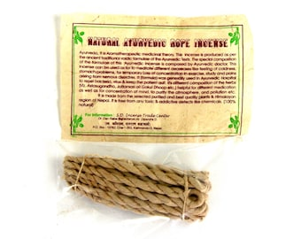 "Tibetan AYURVEDIC Rope Incense 20 3"" Ropes Bundle Himalayan"