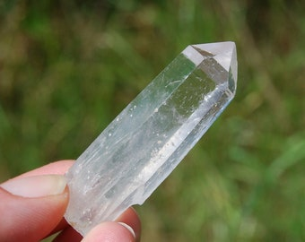 "23g 2.25"" Trigonic Record Keeper Columbian Blue Smoke Quartz Crystal Cookeite Lithium Colombian Etched Lemurian Seed"