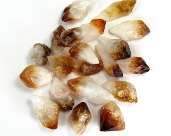 "CITRINE POINTS 1 to 1.5"" Bulk Wholesale Discounts Natural Healing Crystals Brazil Crystal Point  1 6 12 Pieces"