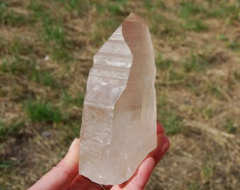 "576g 5.25"" Scarlet Temple Lemurian Seed Quartz Crystal Brazil Key Elestial Formations Starbrary Dreamsicle Cosmic Rainbow Rainbows"