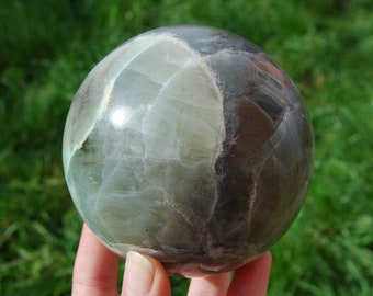 "Large 1186g 3.8"" Garnierite Crystal Sphere Ball Polished Healing Crystals Stone of Manifestation and Self Love XL Green Moonstone Big"