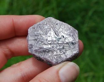 "44g 1.5"" Hexagon Ruby Corundum Crystal Trigonic Record Keeper Krishna Spear Vedic Sapphire Ayurvedic Natural"