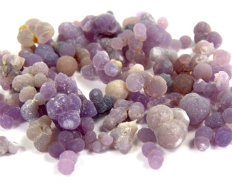 10 Gram Lot of Grape Chalcedony Natural Purple Lavender Crystal Formation Healing Specimen Piece  Love Harmony Peace Jewelry Component Agate