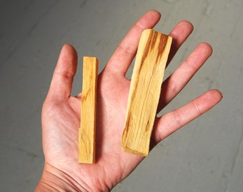 JUMBO Palo Santo Stick 4 Inches For Smudging Potpourri Essential Oil or Incense Blends Paolo Thick Cut