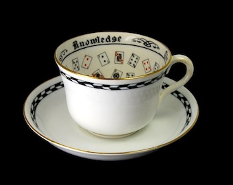 Antique Jackson and Gosling Cup of Knowledge Fortune Telling Teacup Tea Leaf Reading Divination Fortunetelling Grosvenor circa 1925