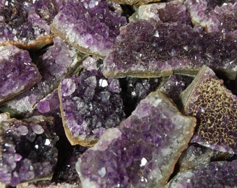 Natural Amethyst Clusters from Uruguay Small Medium or Large Juicy Purple Cluster Quartz Crystal Bulk Pieces Geode Chunks Chunk Piece