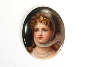 Antique Portrait Miniature Hand Painted Queen Louise of Prussia circa 1900