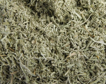 Natural Loose California Mount Shasta Sage Herb 1 Ounce For Smudging Potpourri Essential Oil or Incense Blends Blue Mountain Lemurian