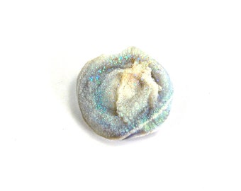 Galactic Glitter Aura Chalcedony Concha Natural Crystal Formation Healing Specimen Piece  Love Harmony Peace Jewelry Component Angel Rose