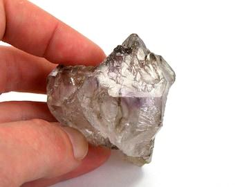 BIG 107 gram Elestial Amethyst Double Terminated Scepter Like Quartz Crystal Point Brandberg Namibia Phantom Double Terminated Window Gemmy