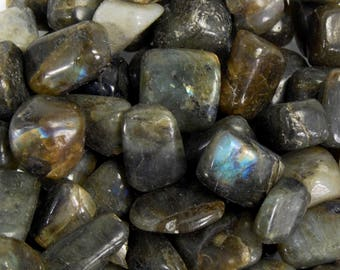 LABRADORITE Tumbled Stone 1 or Set of 6 Pieces Wholesale Natural Crystal Tumble Stones Medium .75 to 1.25 Inches Crystals