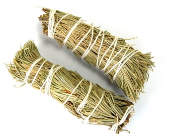 "ONE 4"" Natural Pinon Pine Bundle Smudge Stick Medium 4 Inches Natural Incense"