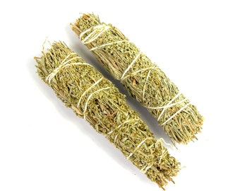 "ONE 4"" Wild Lavender Mountain Sag and White Sage Natural Mixed Bundle Smudge Stick Medium 4 Inches Natural Incense Blend Torch"
