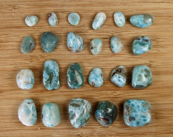 CHOOSE YOUR OWN Larimar Tumbled Stone Atlantis Crystals Stones Stefilia's Stone Crystal Blue Dolphin Atlantean Pectolite Small Medium Large