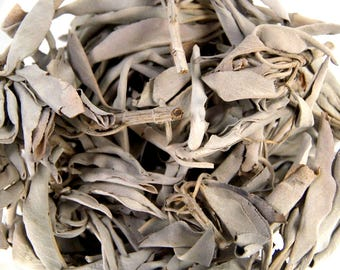 Natural Loose California White Sage Herb 1 Ounce For Smudging Potpourri Essential Oil or Incense Blends