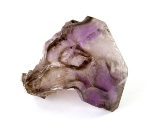 BIG 117g Elestial Amethyst Double Terminated Scepter Like Quartz Crystal Point Brandberg Namibia Purple Phantom Window Angelic Communication