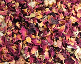 Natural Loose Moroccan Rose Buds Herb 1 Ounce For Smudging Potpourri Essential Oil or Incense Blends Damask Rose Petals Bud Petal