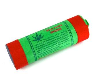 """Tibetan Wild Flora Herbal Incense 30 4.5"""" Sticks with Holder"""