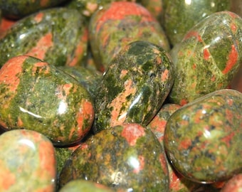 UNAKITE Tumbled Stone 1 or 6 Pieces Epidote Included Wholesale Natural Tumble Stones Medium .75 to 1.25 Inches Crystal Bulk