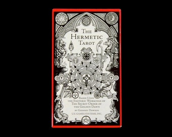 Hermetic Tarot Card Deck by Stuart Kaplan and Godfrey Dowson Secret Order of Golden Dawn Kabbala Esoteric