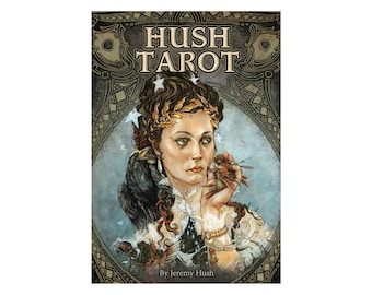 Hush Tarot Card Deck and Book by Jeremy Hush Gothic Celestial Gorgeous Illustration Illustrated Ethereal Illustrated Gothic