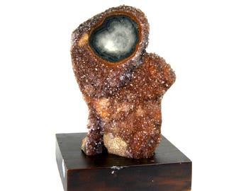 "2.7lb 6"" Amethyst Ametrine Quartz Crystal Druzy Stalactite Formation Flower Uruguay Specimen Piece Geode Cathedral Spirited Away Cluster"