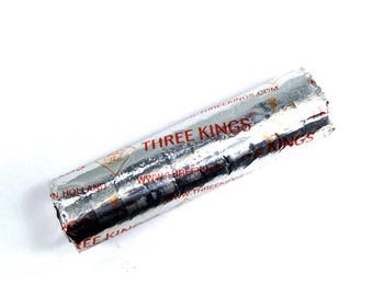 NEW Three Kings Charcoal Roll Pack of 10 Briquettes 33mm For Use with Resin Natural Incense Burner or Hookah