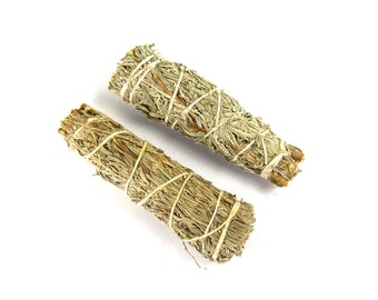 "ONE 4"" Palo Santo and Mountain Sage Natural Mixed Bundle Smudge Stick Medium 4 Inches Natural Incense Blend"