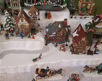 christmas village display platform for lemax dept 56 dickens north pole snow village