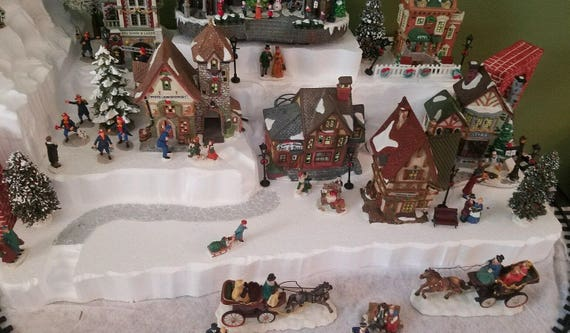 Christmas Village Display.Christmas Village Display Platform For Lemax Dept 56 Dickens North Pole Snow Village