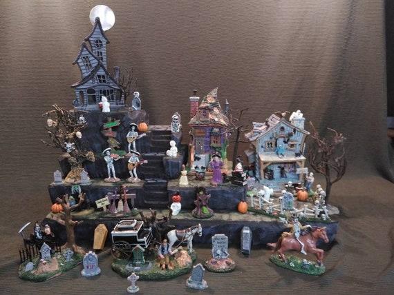 Halloween Village Display Platform for Lemax Spooky Town Department 56